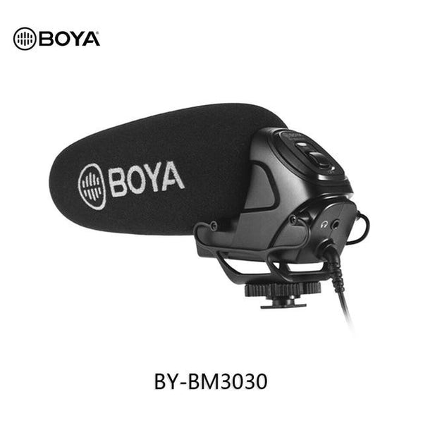 BOYA BY-BM3030 BM3031 BM3032 BM2021BM3011 Microphone On-Camera Shotgun Condenser Supercardioid for DSLR Cameras Audio Recorders