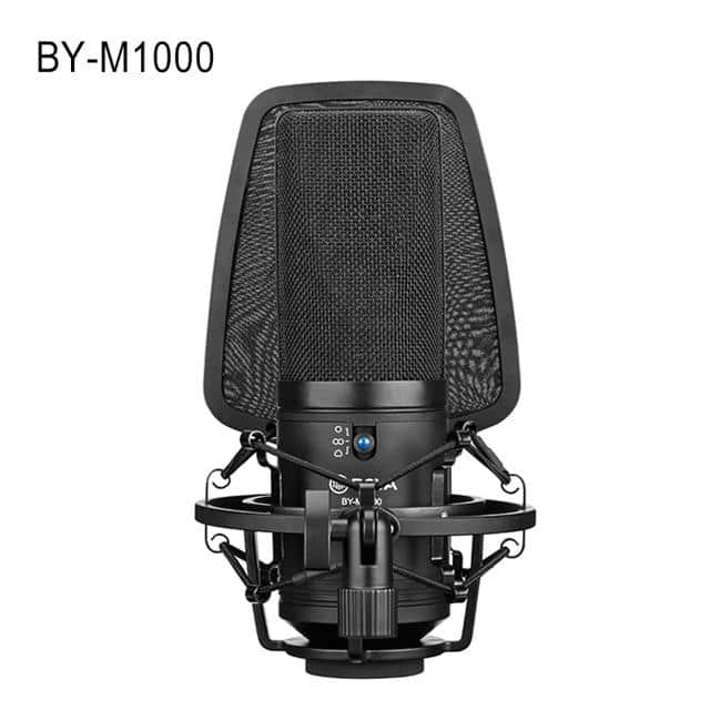 BOYA BY-M1000 Professional Large Microphone Kit Omnidirectional Double-layer Pop Filter Shock Mount for Singer Studio Recording