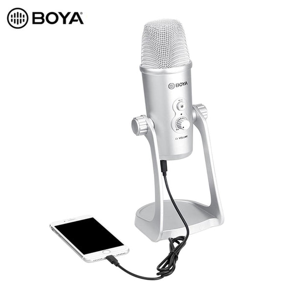 BOYA BY-PM700SP USB Mic Microphone Stereo Condenser PC Mic for Vocals Podcast Interview Computer PC IPhone Android Recording