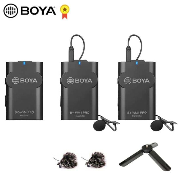 BOYA BY-WM4 Pro K2 K1 Phone Wireless Lav Microphone Video Audio Lavalier Mic for DSLR Camera DV Smartphone Vlog Live Streaming