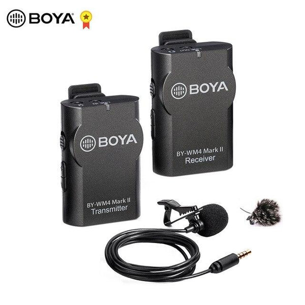 BOYA BY-WM8 Pro WM4 Pro K2 K1 Mark II UHF Wireless Microphone System Omni-directional Lavalier Microphone for ENG EFP DV DSLR