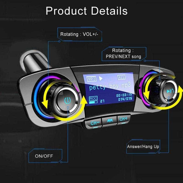 Bluetooth 4.0 Car USB 2.1 Charger 1pc FM Transmitter MP3 Audio Radio Adapter-mp3-Pickandshop