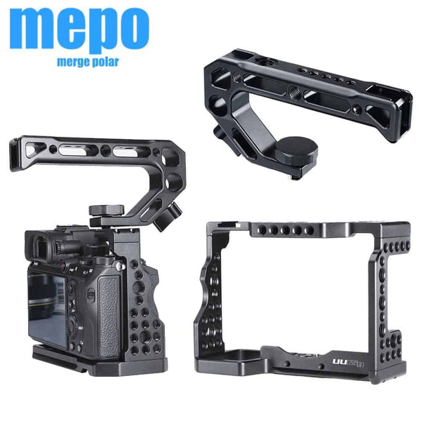 C-A73 Camera Cage for Sony a7iii A7R3 A7M3I Standard Arca-Style Quick Release Plate with Top Handle Grip Sony A7III Handgrip