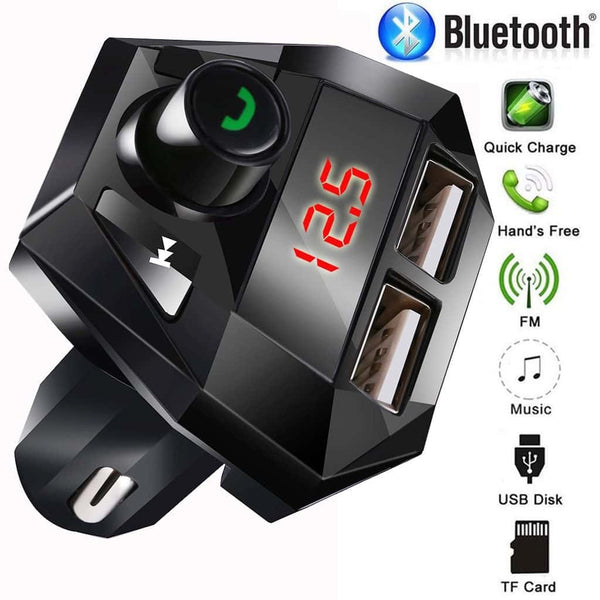 Car Kit Hands free Wireless Bluetooth FM Transmitter LCD MP3 Player USB Chargesr  Support charge while listening to songs