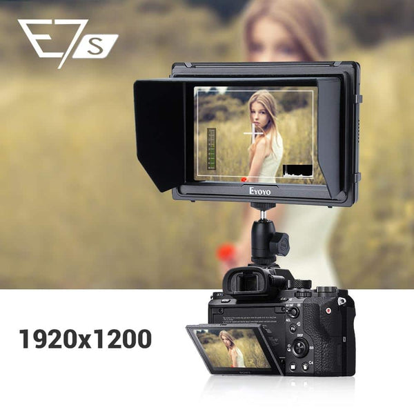 "Eyoyo E7S 4k Camera Monitor DSLR Full HD 1920x1200p 7"" inch Field Monitor HDMI Small Slim IPS Camera Video Monitor 4K"