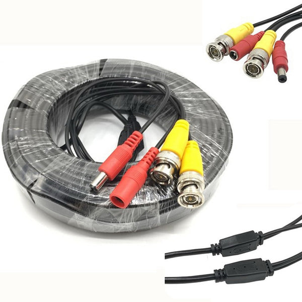 1PC 5M/10M/20M/30M CCTV DVR Camera Recorder system Video Cable DC Power Security Surveillance BNC Cable Installation Accessories