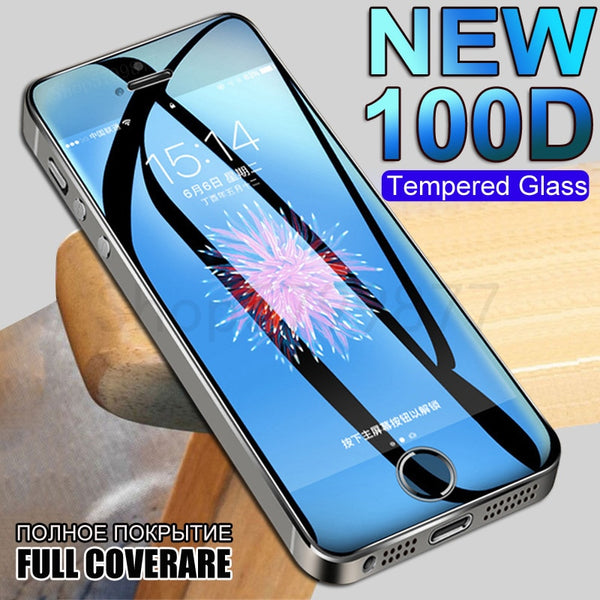 100D Protective Glass On The For iPhone 5S 5 5C SE Tempered Screen Protector Glass For Apple iPhone SE 5S Safety Protection Film