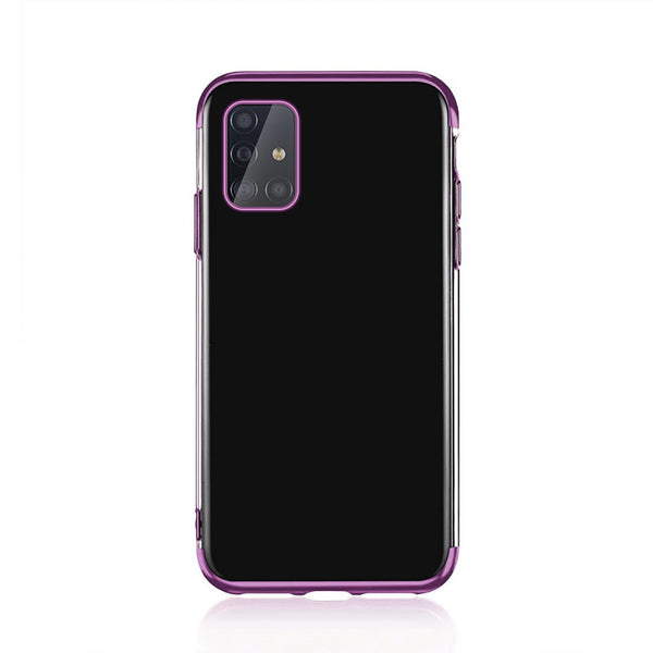 Plating transparent silicone phone case for Samsung Galaxy A71 A51 soft TPU Bumper phone cover for Samsung A71 A51 A 71 A 51