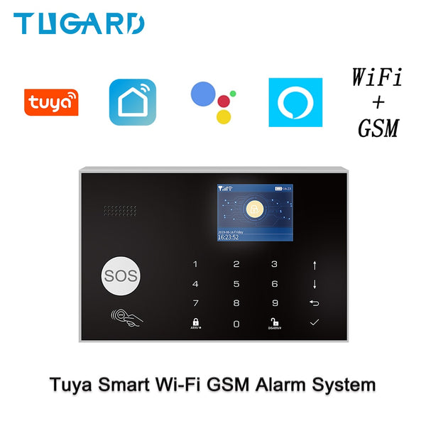 Wifi Gsm Home Security Alarm System with IP camera smoke detector siren Smart home accessories Android Ios Apps Control