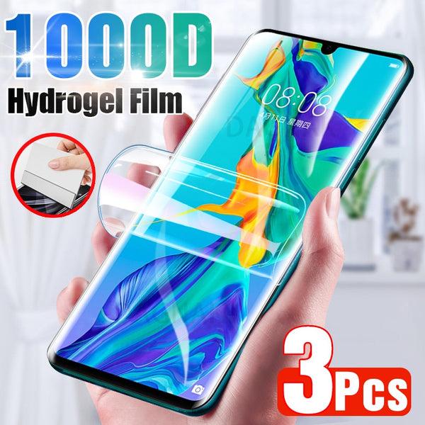 3Pcs Screen Protector For Huawei P30 Pro P20 Lite P40 P10 Full Cover Hydrogel Film For Huawei Mate 10 20 30 Pro Honor 9 20 lite