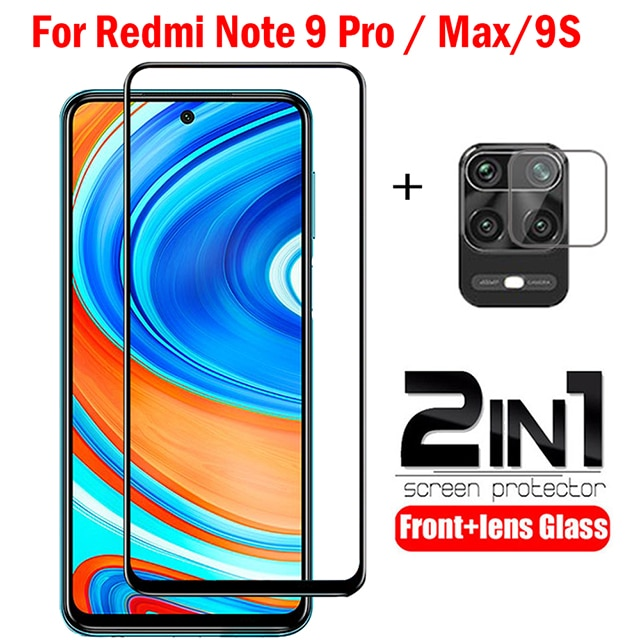 2-in-1 camera Glass on xiaomi redmi note 9 9s Pro glass on xiomi redmi 9 9A 9C glass on Redmi note 9s 9 pro Max Screen protector