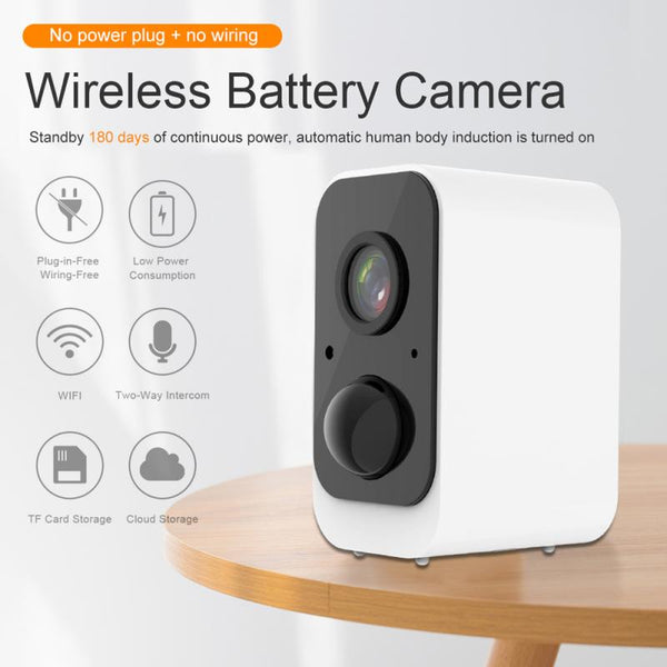 New Wire Free Outdoor Security Camera Rechargeable Battery Wireless IP Cam 1080P Wifi IP Camera Home Surveillance System PIR