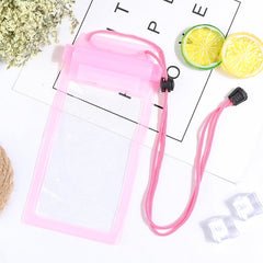 1Pcs Fashion Waterproof Bag For Cell Phone PVC Transparent Sealed Bag For Rafting Swimming Hot Spring Hanging Neck Phone Bag