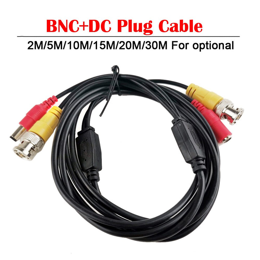 2M/5M/10M/15M/20M/30M CCTV DVR Camera Recorder system Video Cable DC Power Security Surveillance BNC Cable
