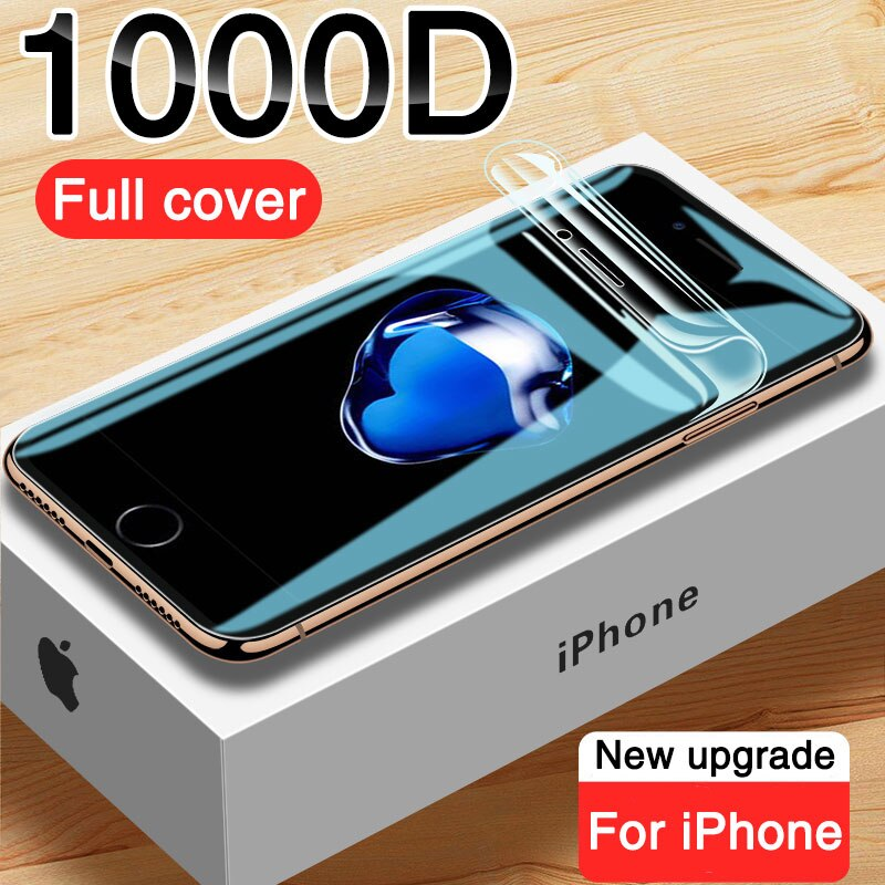 1000D Full Cover Hydrogel Film Screen Protector For iphone 7 8 6 6S Plus Screen Protector For iphone X XS 11 12 Pro Max XR Film