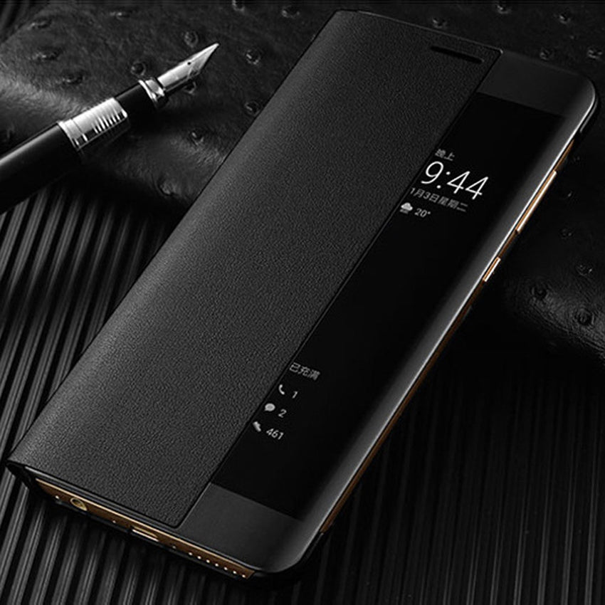 Smart View Flip Cover Leather Phone Case For Huawei Mate 10 Pro Mate10 10pro Mate10pro Luxury Magnetic Case Shockproof 360