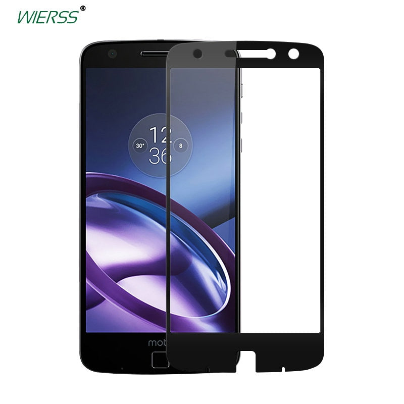 For Motorola Moto Z XT1650 Full Cover Tempered Glass case Screen Protector for Moto Z Droid edition full Coverage glass Film (black color)