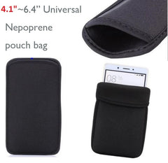 "4.1""~6.4"" inch Universal Neoprene Pouch Bag Sleeve Case For iphone 12 11 Pro Max XR XS Max 12 Mini For Note 20 S20 Ultra A71 A51"