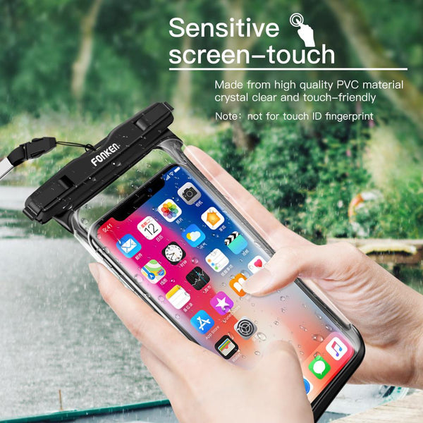 Full View Waterproof Case for Phone Mobile Transparent Dry Bags Seaside Swimming Diving Universal Outdoor Storage Pouch