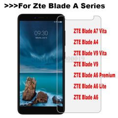 Tempered Glass Zte Blade A7 Vita A4 A6 Lite V9 Premium Screen Protector Safety Protective Film on A7Vita A6Lite A 7 6 4 Glass