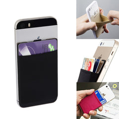 4 colors Elastic Adhesive Mobile Phone Wallet Credit ID Card Holder Sticker Case Pouch Phone Pocket For iphone xiaomi