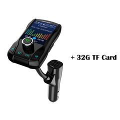 Onever Color Screen FM Transmitter Wireless Bluetooth Handsfree Car Kit 360 rotatable Car MP3 Audio with 5V 3.1A Dual USB Charge
