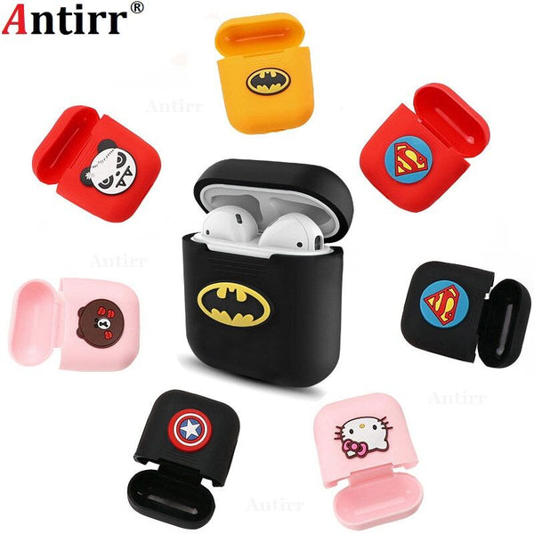 1PCS Cartoon Soft Silicone Case For Apple Airpods Shockproof Cover For Apple AirPods Earphone Cases Cute Air Pods Protector Case