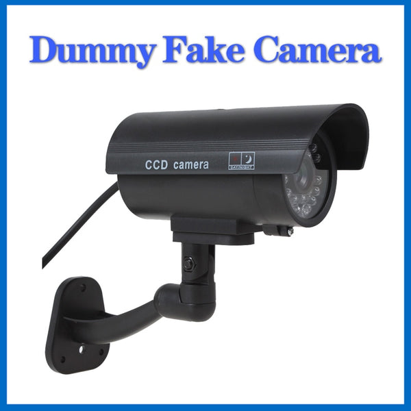LOFAM Fake camera Dummy Emulational camera cctv camera bullet waterproof outdoor use for home security with flash LED