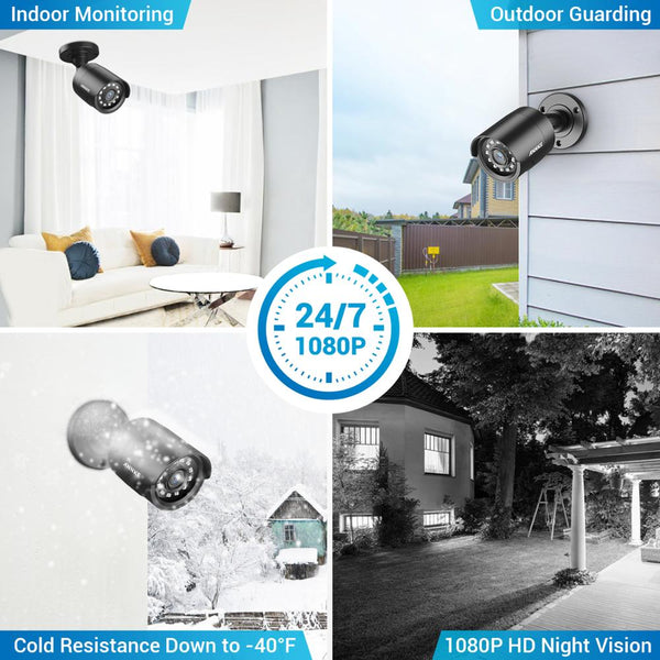 ANNKE 2MP HD 8CH Video Security System 5MP Lite H.265+ DVR With 4PCS Smart IR Bullet Weatherproof Surveillance Cameras CCTV Kit