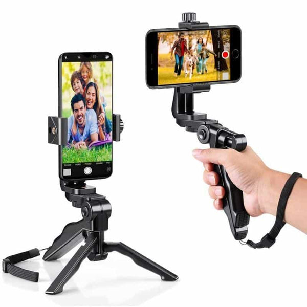 Handheld Grip Stabilizer Tripod Selfie Stick Handle Remote Holder Selfie Stand For iOS Android Phone Portable MINI