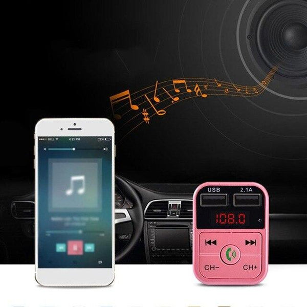 Handsfree Universal Car Audio Modulator Wireless Handsfree Fm Transmitter Lcd Mp3 Player USB Car Charger