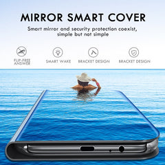 smart flip case for Samsung Galaxy Note 10 Plus Note 10 lite Mirror Leather protector cover for Samsung Not10 Plus lite Not 10