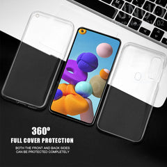 Case For Samsung A21S 360 full Double Silicon Case For Samsung Galaxy A21S A 21 S 21S Transparent Body front back cover coque