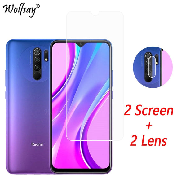 Camera Lens Protector For Xiaomi Redmi 9 Screen Protector Tempered Glass For Redmi 9 9A 9C 8A 7A Camera Glass For Redmi 9 Glass