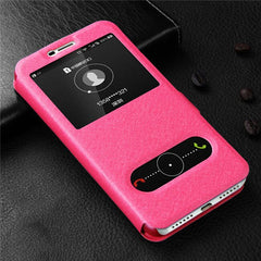 Fashion Window View Magnetic Flip Cover Protective Case on for Meizu M5 M6 M2 M3 Note M6s M6T M5s M5c M3s meizu 15 Plus Cases