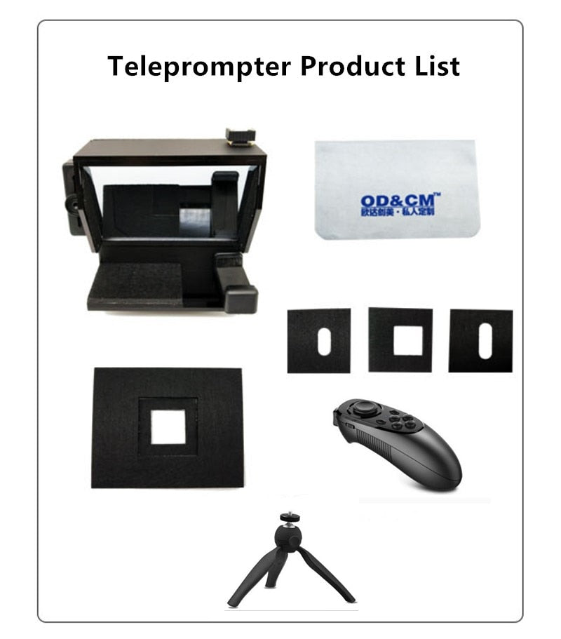 2020 Portable Prompter Smartphone Teleprompter With Remote Control News Live Interview Speech For Mobile Phone