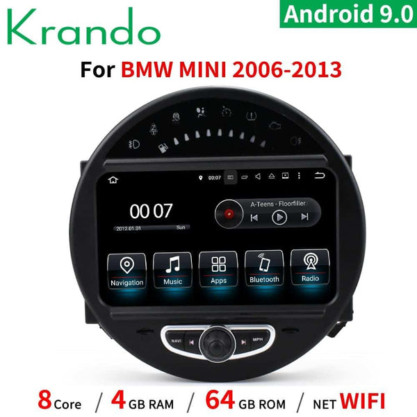 Krando 8'' Android 10.0 for BMW Mini Cooper 2007-2014 car dvd radio audio player multimedia system gps navigation