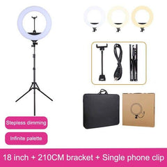 MAMEN 18 inch LED Video Selfie Ring light 45cm Photography Lighting For Youtube Live Streaming Makeup Beauty With Phone Holder