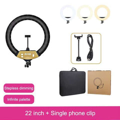 MAMEN 22 18 inch ring light Video 45cm LED Dimmable Studio Ring Lamp Photography With Phone Holder DSLR For Makeup Youtube lIVE