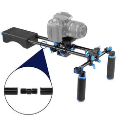 Mcoplus F102 Shoulder Mount Rig stabilizer Slider Steady Support Platform for Canon Nikon Sony DSLR DV Cameras & Camcorders
