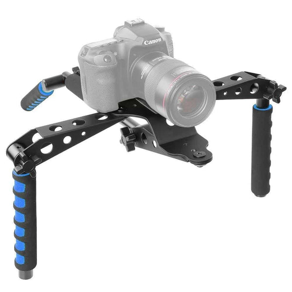 Neewer Aluminium Alloy Foldable DSLR Rig Movie Kit Film Making System Shoulder Mount Support Rig Stabilizer for Canon/Nikon