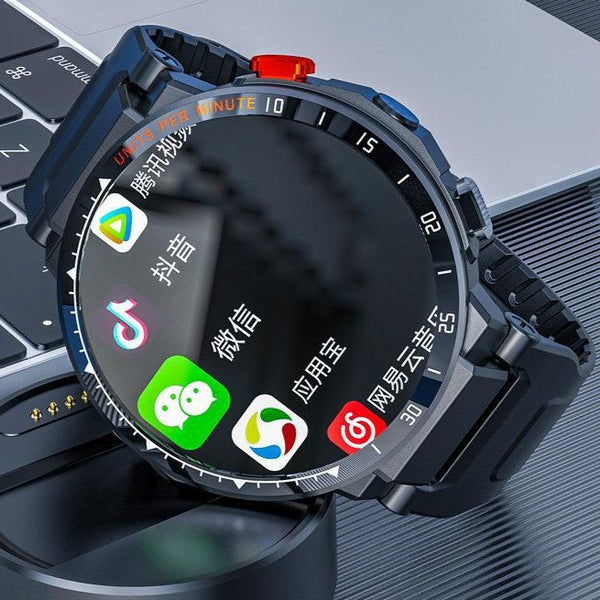 4G smartwatch male black technology phone all-net internet card wifi multi-functional students high school students adult electronic bracelet sports mobile phone Android junior high school adult video round screen