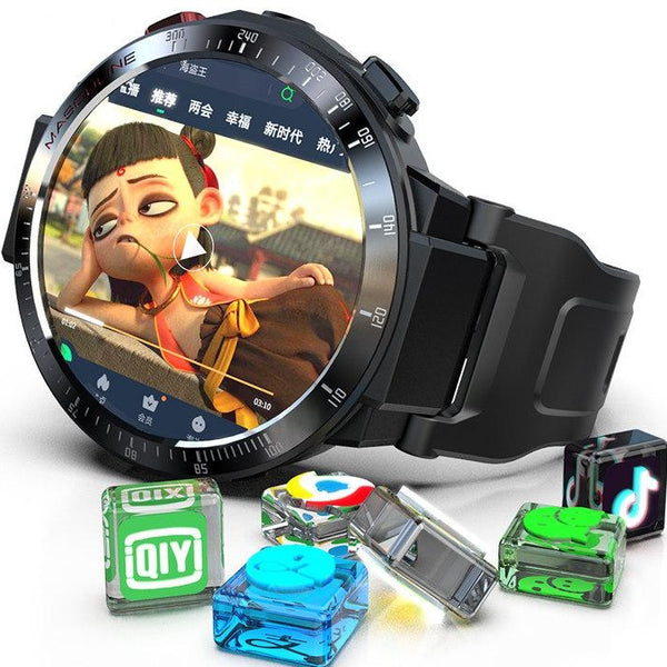 Smartwatch men's black technology wifi phone multi-functional 4G internet access to take pictures of Android adult female plug-in card call Bluetooth junior high school students round-screen electronic sports watch