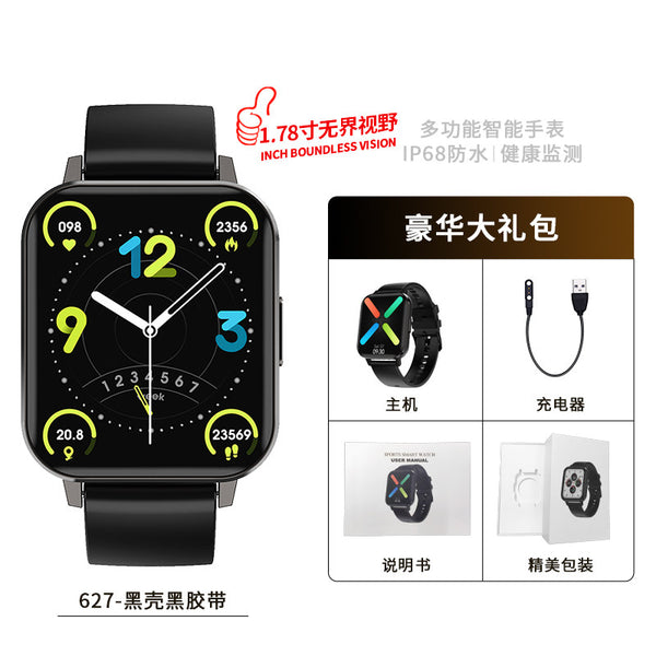 Smartwatch men's Xiaomi Huawei Apple general sports running black technology big screen touch screen female waterproof electronic watch