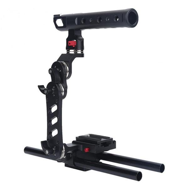 Camera Stabilizer Cage Rig Bracket with Quick Release Plate