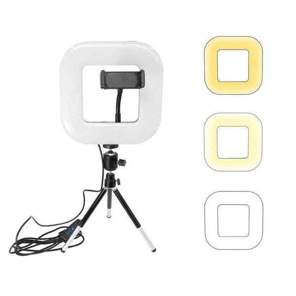 Photography Dimmable LED Selfie Ring Light Youtube Video Live 3200-6000K / 18*18*2.5CM