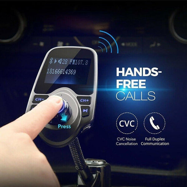 "VicTsing 1.8"" Bluetooth Car FM Transmitter PD"
