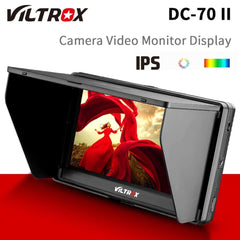 "Viltrox DC-70 II 7"" DSLR Camera Field Monitor 4K HDMI AV Input IPS HD 1024x600 LCD Display Video Assist for Sony Nikon Canon"