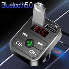 JINSERTA Car Bluetooth 5.0 Mp3 Player FM Transmitter Handsfree Audio Receiver car Pickandshop