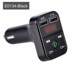 JINSERTA Car Bluetooth 5.0 Mp3 Player FM Transmitter Handsfree Audio Receiver car Pickandshop E0134-Black